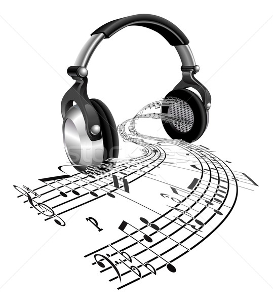 Headphones sheet music notes concept Stock photo © Krisdog