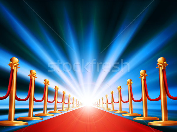 Stock photo: Red carpet entrance