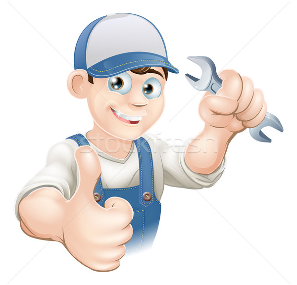 Thumbs up plumber or mechanic Stock photo © Krisdog