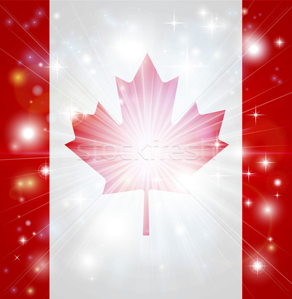 Canadian flag background Stock photo © Krisdog