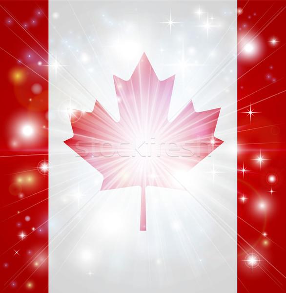 Drapeau canadien pavillon Canada lumière espace de copie Photo stock © Krisdog