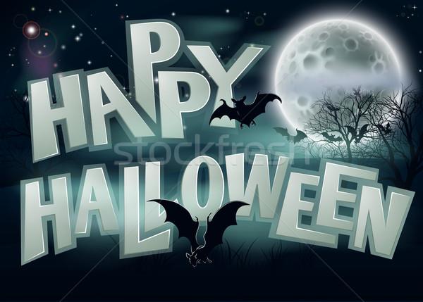 Happy Halloween Background Stock photo © Krisdog