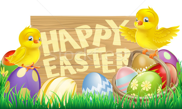 Isolated Easter Sign Stock photo © Krisdog