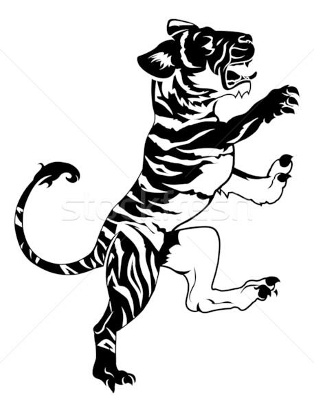Stylised tiger illustration Stock photo © Krisdog