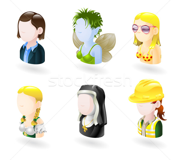 avatar people internet icon set Stock photo © Krisdog