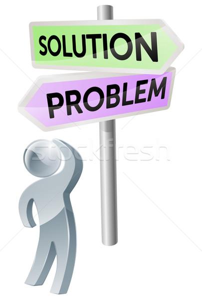 Problem or solution decision Stock photo © Krisdog