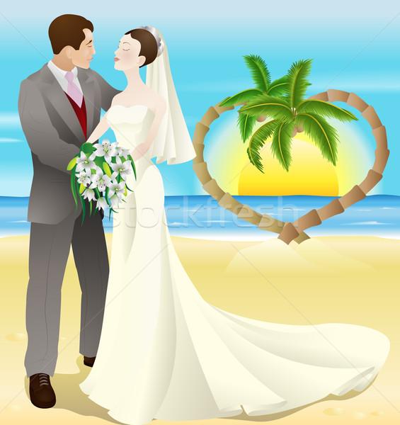 tropical destination beach wedding Stock photo © Krisdog
