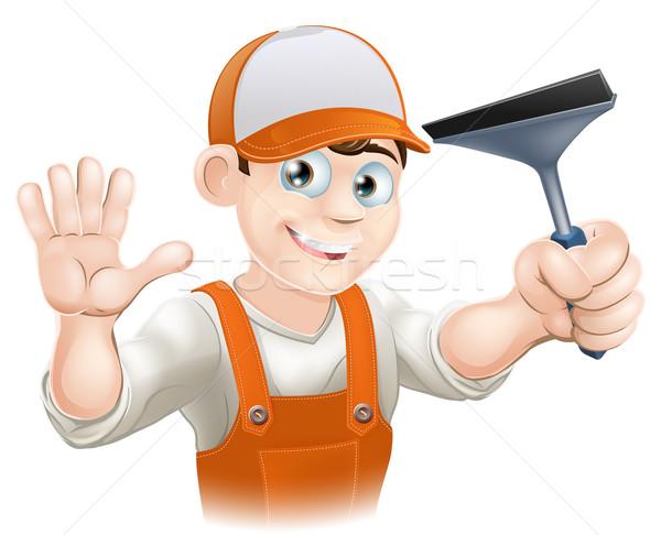 Limpador de janelas janela limpeza ferramenta negócio Foto stock © Krisdog