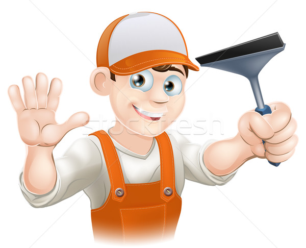 Foto stock: Limpador · de · janelas · janela · limpeza · ferramenta · negócio