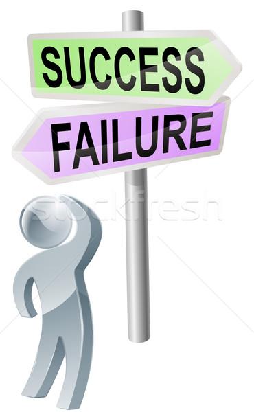 Sucesso falha decisão pessoa Foto stock © Krisdog