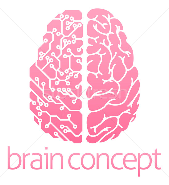 Human brain electrical circuit Stock photo © Krisdog