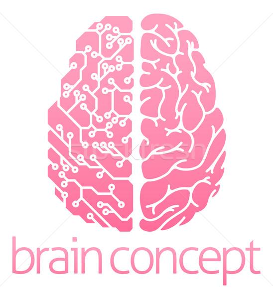 Cervello umano elettriche circuito design computer medici Foto d'archivio © Krisdog