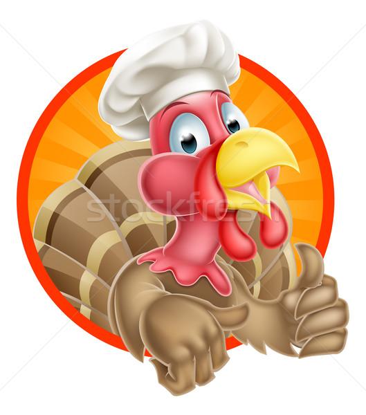 Törökország szakács sapka kabala remek visel háttér Stock fotó © Krisdog