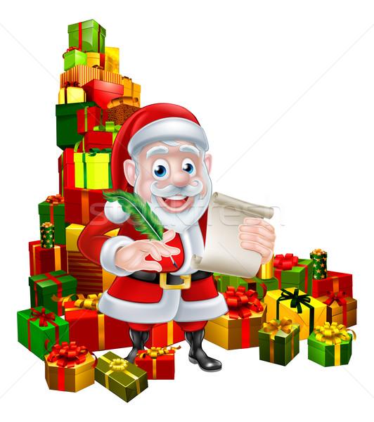 Santa Christmas List Scene Stock photo © Krisdog