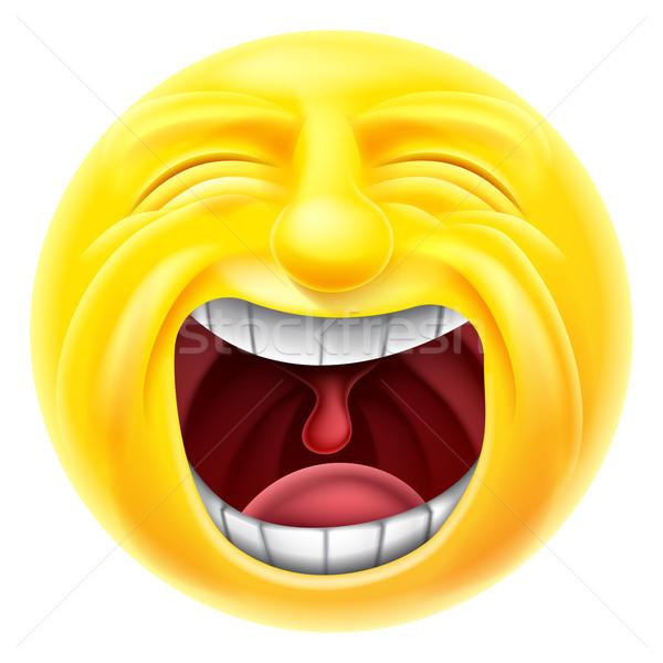 Screaming Emoticon Emoji Stock photo © Krisdog