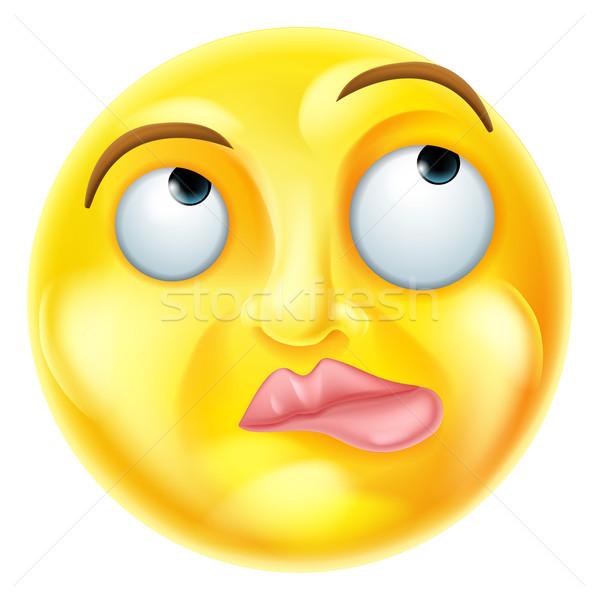 Thinking Emoji Emoticon Stock photo © Krisdog