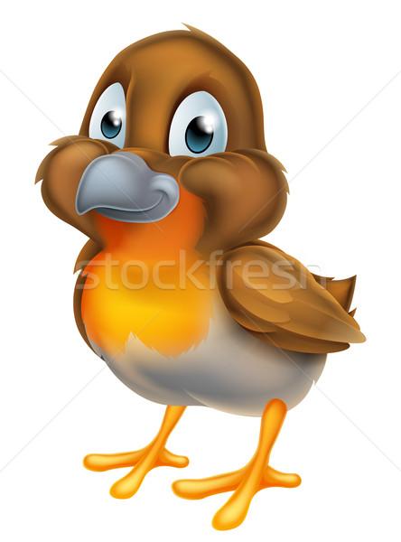 Desenho animado pássaro bonitinho mascote primavera Foto stock © Krisdog