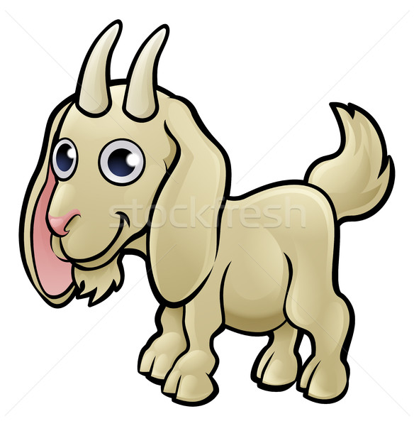 Stock photo: Goat Farm Animals Cartoon Character