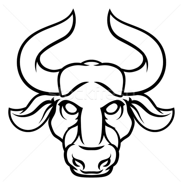 Bull zodiac horoscope signe astrologie signes Photo stock © Krisdog
