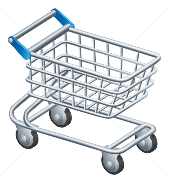 Shopping trolley icon Stock photo © Krisdog