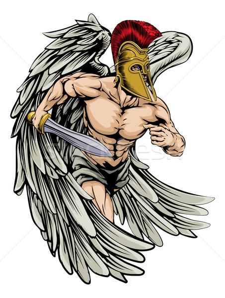 Warrior angel Stock photo © Krisdog