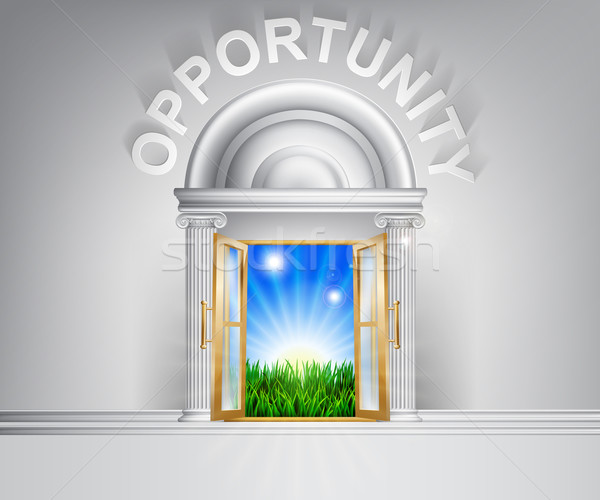 Door to opportunity concept Stock photo © Krisdog