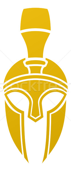 Spartaans trojaans helm icon kant ontwerp Stockfoto © Krisdog