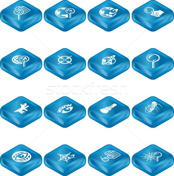 Web Search Icon Series Set Stock photo © Krisdog