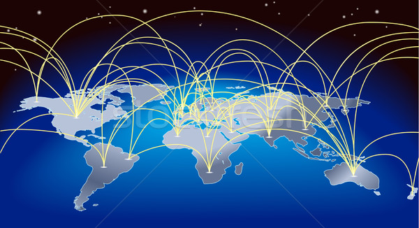 World trade map background Stock photo © Krisdog