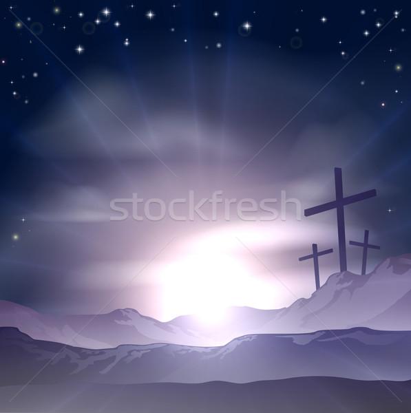 Easter Crosses Stock photo © Krisdog