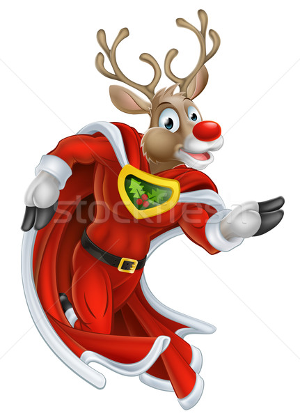 Christmas Reindeer Super Hero Stock photo © Krisdog