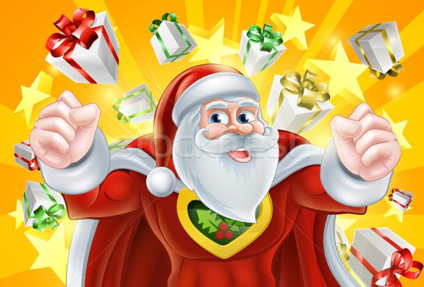 Christmas Superhero Santa Claus Stock photo © Krisdog