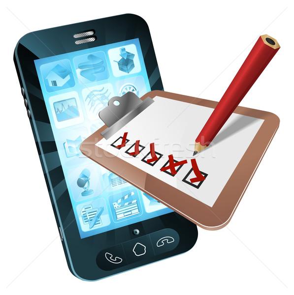 Mobile Phone Survey Concept Stock photo © Krisdog