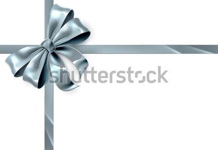 Silver Bow Ribbon Stock photo © Krisdog