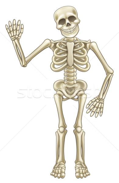 Cartoon Skeleton Waving Stock photo © Krisdog