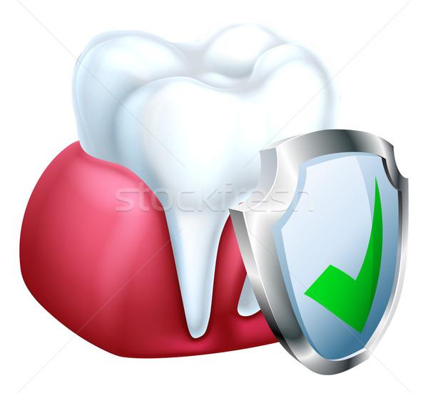 Dente gum protezione medici dental illustrazione Foto d'archivio © Krisdog