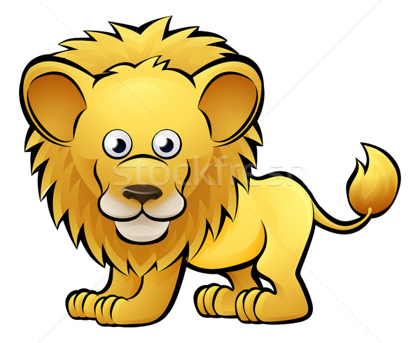 Lion animaux de safari livre enfant amusement Photo stock © Krisdog
