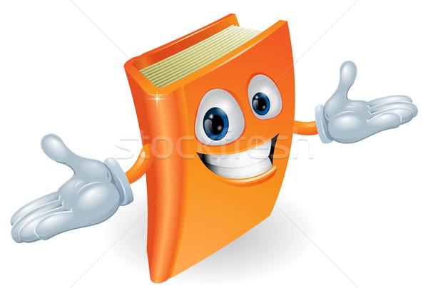 Könyv rajzfilmfigura kabala mosolyog rajz illusztráció Stock fotó © Krisdog