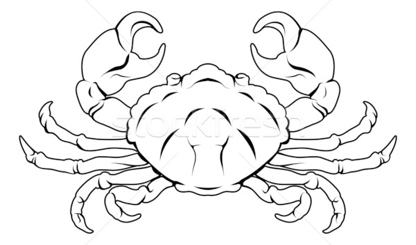 Stylised Crab illustration Stock photo © Krisdog