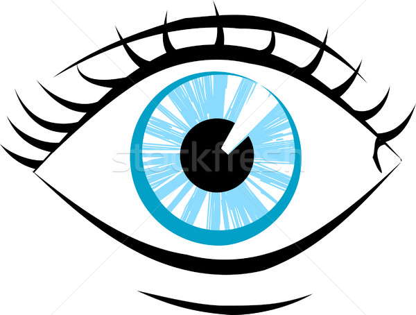 eye illustration Stock photo © Krisdog