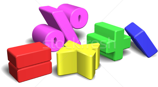 3d math symbols or signs Stock photo © Krisdog