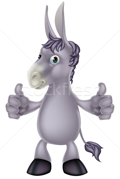 Ezel cartoon illustratie cute gebaar Stockfoto © Krisdog