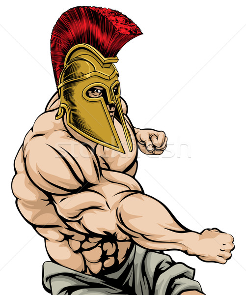 Stock photo: Spartan Punching