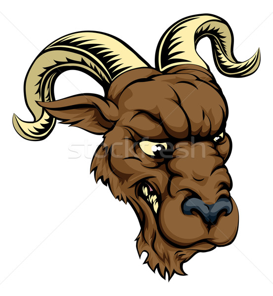 Ram character illustration Stock photo © Krisdog