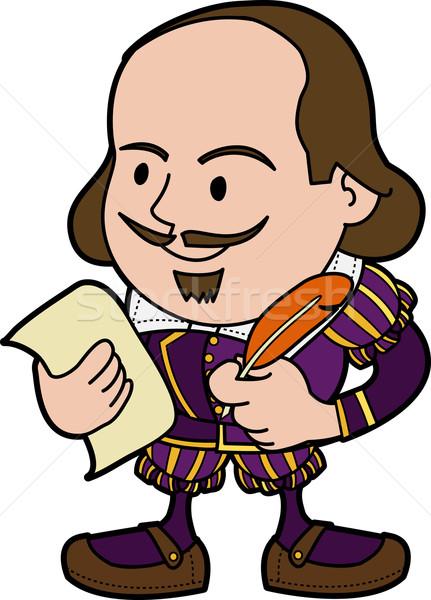 Illustration of Shakespeare Stock photo © Krisdog