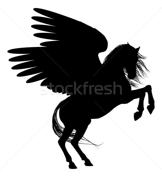 Pegasus in Silhouette Stock photo © Krisdog