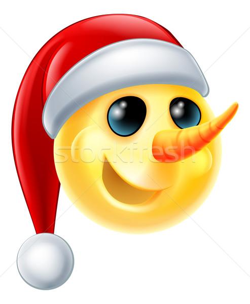 Snowman Emoji Stock photo © Krisdog