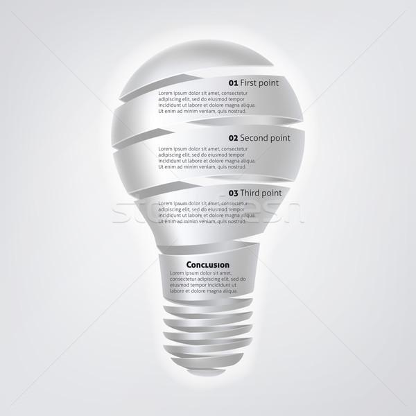 Light Bulb Infographic Stock photo © Krisdog