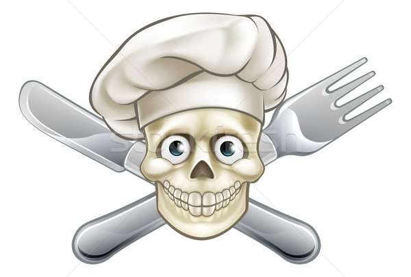 Cartoon Pirate Crossbones Chef  Stock photo © Krisdog