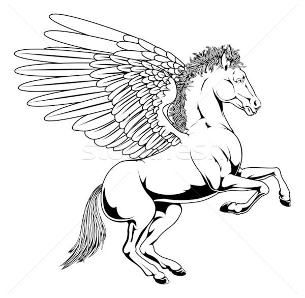 Pegasus illustration Stock photo © Krisdog